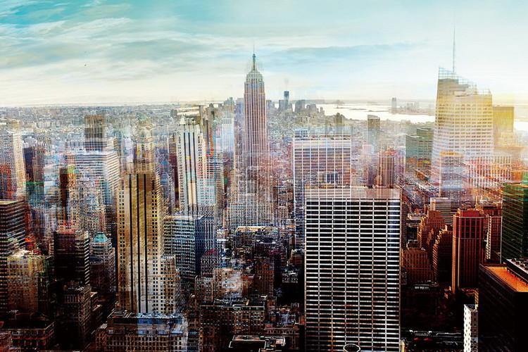 New York - View Print på glas