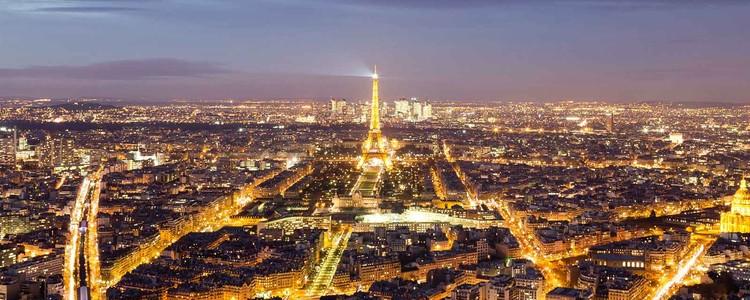 Paris Lights Print på glas