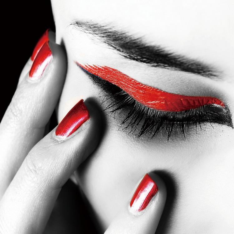 Passionate Woman - Eye Print på glas