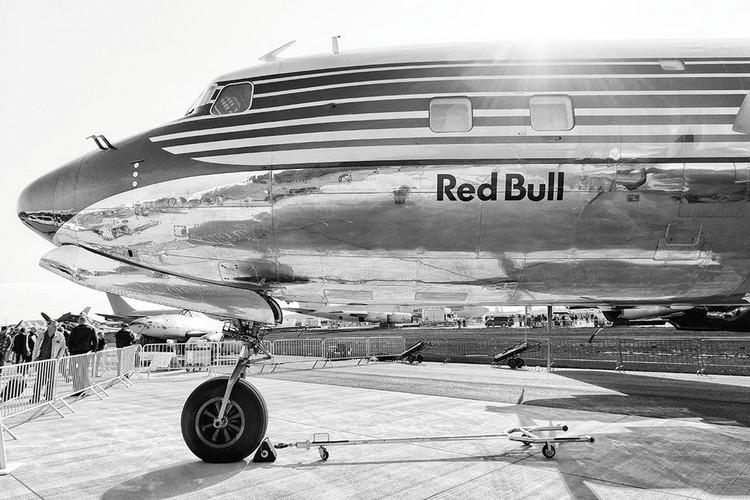 Plane - Red Bull Print på glas
