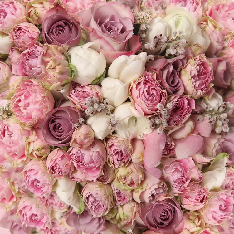 Romantic Roses 1 Print på glas