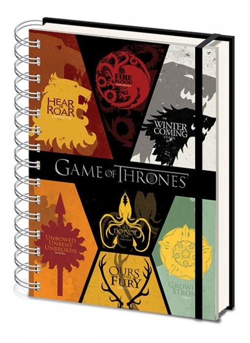 Hra o Trůny (Game of Thrones) - Sigils A5 notebook  Psací potřeby