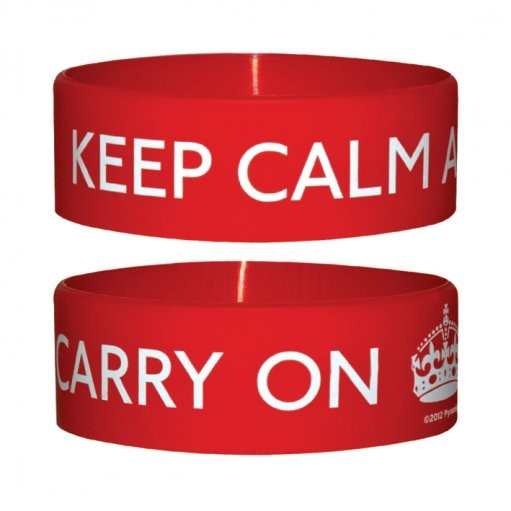 KEEP CALM AND CARRY Pulseras de silicona