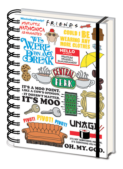 Quaderno Friends - The One with the Quotes