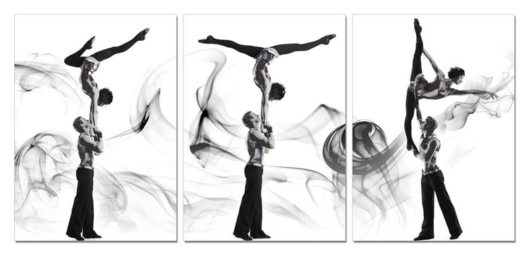 Quadro A couple of acrobatic dancers