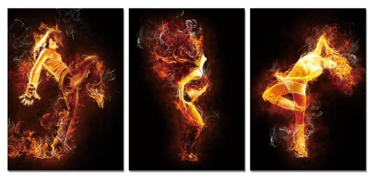 Quadro  The fiery woman