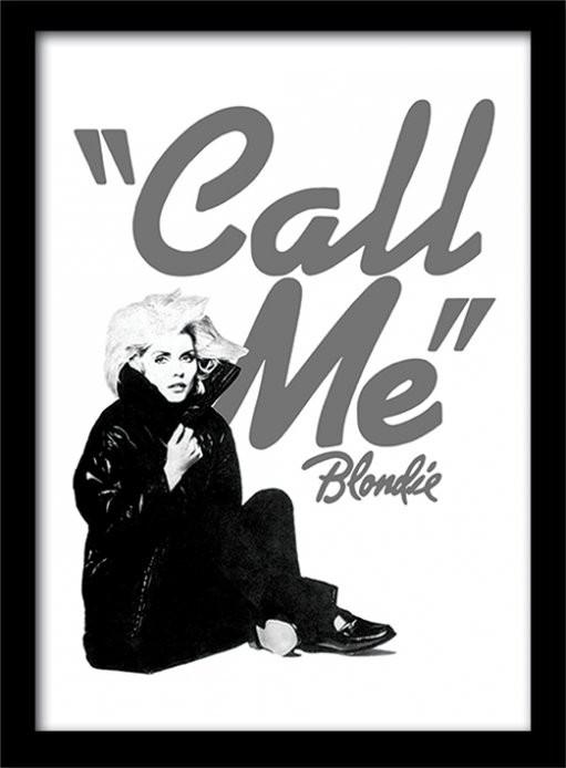 Blondie - Call Me rám s plexisklem