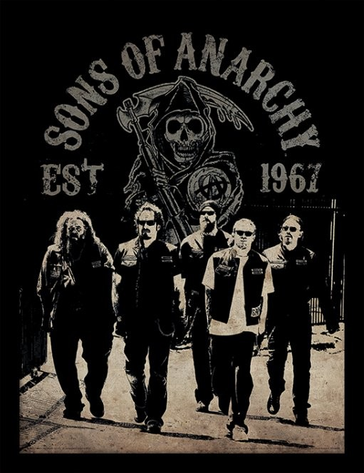 Sons of Anarchy (Zákon gangu) - Reaper Crew rám s plexisklom