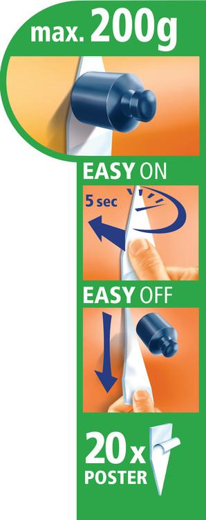 Självhäftande dubbelsidigt band - kan tas bort utan att lämna spår