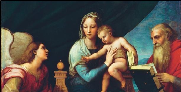 Raphael Sanzio - Madonna of the Fish - Madonna with the Fish, 1514 (part) Festmény reprodukció