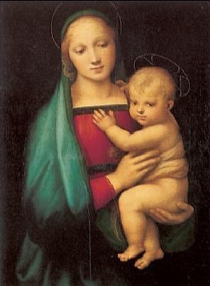 Raphael Sanzio - The Madonna del Granduca, 1505 Festmény reprodukció