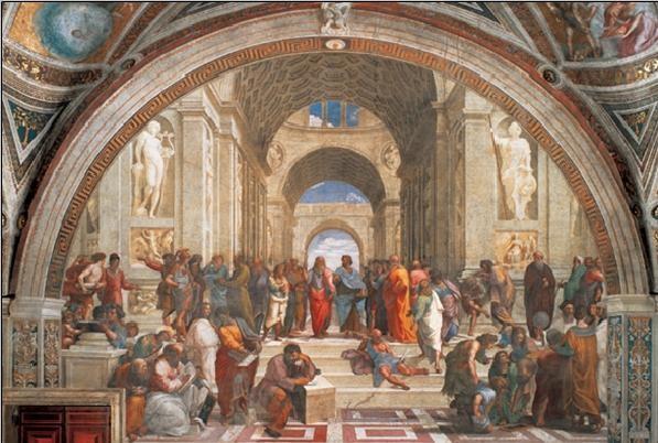 Raphael Sanzio - The School of Athens, 1509 Festmény reprodukció