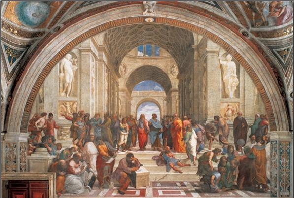 Εκτύπωση έργου τέχνης Raphael Sanzio - The School of Athens, 1509