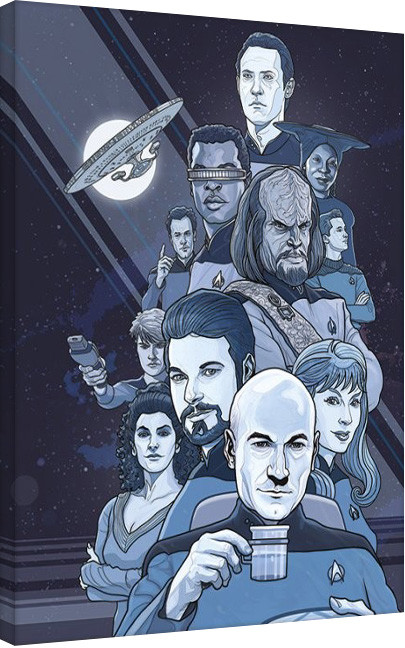 Leinwand Poster Raumschiff Enterprise: Next Generation Blue - 50th Anniversary