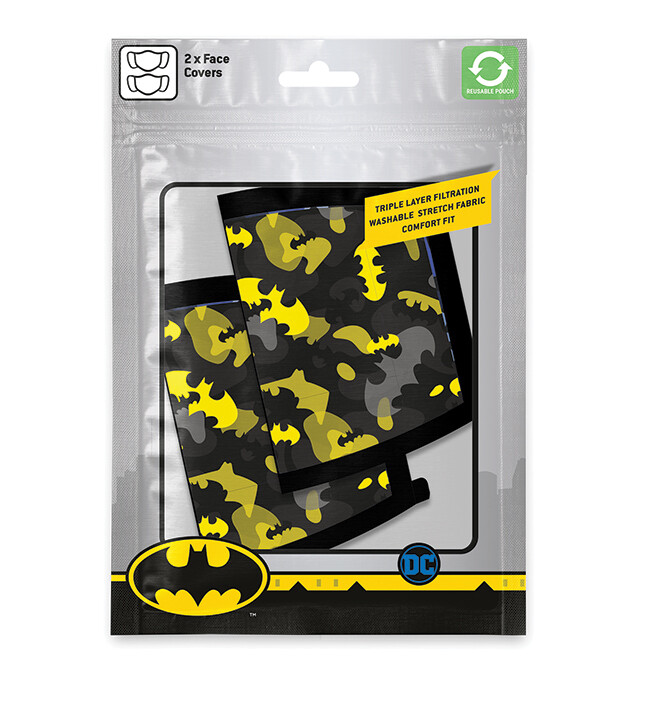 Roušky Batman - Camo Yellow (2 pack)