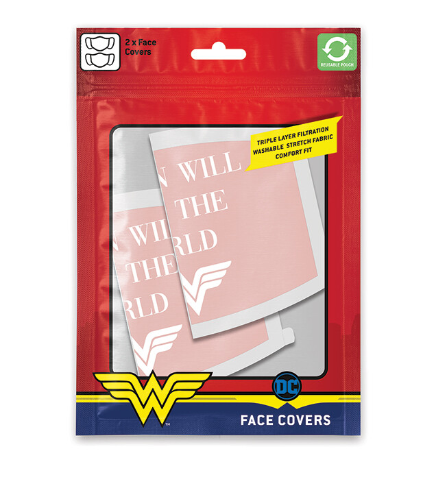 Roušky Wonder Woman - Save the World (2 pack)