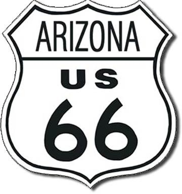 ROUTE 66 - arizona Metalplanche