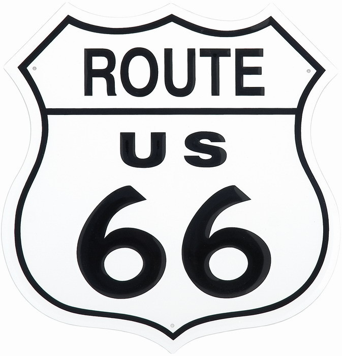 ROUTE 66 SHIELD Metalplanche