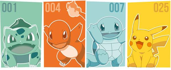 Šalice Pokemon - Starters