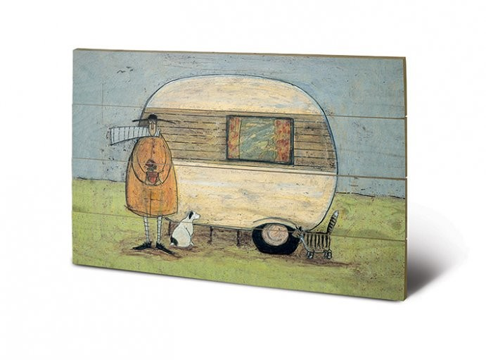 bild auf holz sam toft home from home bei europosters. Black Bedroom Furniture Sets. Home Design Ideas