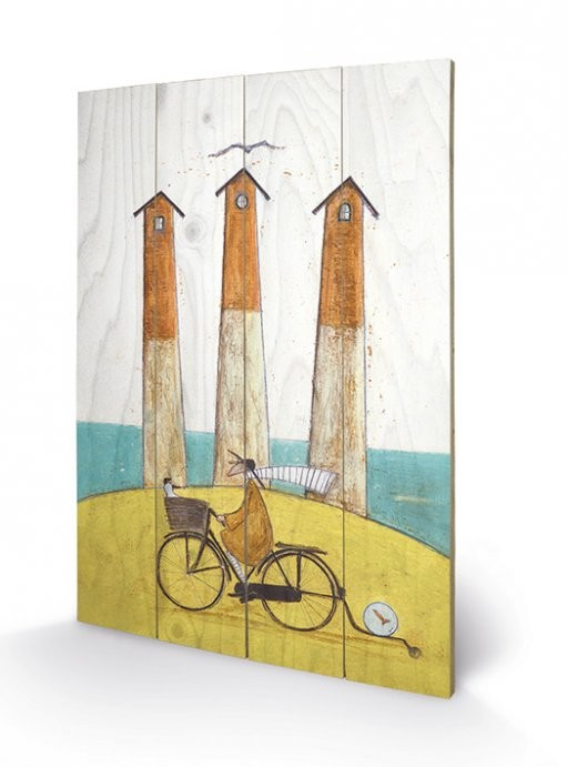Poster su legno Sam Toft - The Square, The Round and The Arched