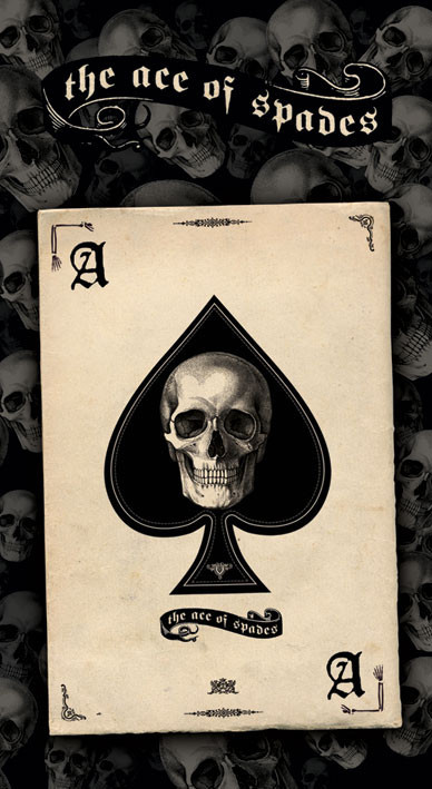 Samolepka ACE OF SPADES - skull