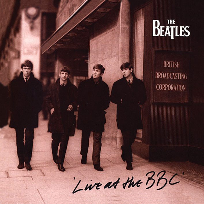 Samolepka BEATLES - live at the bbc