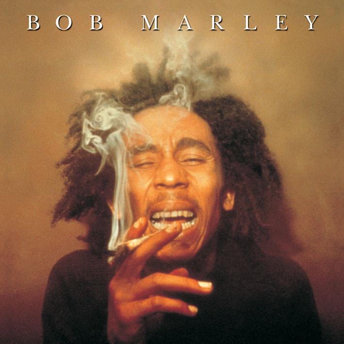 Samolepka BOB MARLEY - spliff