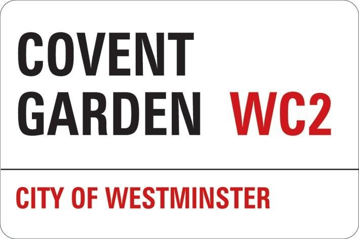 Samolepka LONDON - covent garden