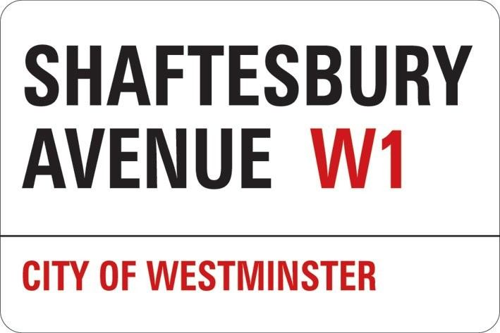 Samolepka LONDON - shaftesbury avenue