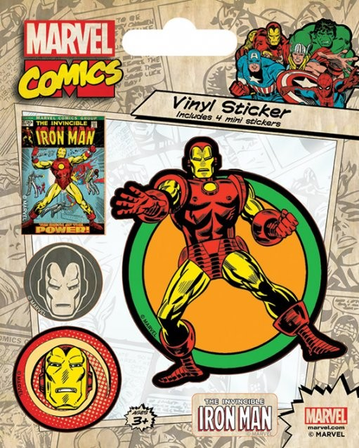 Samolepka Marvel Comics - Iron Man Retro