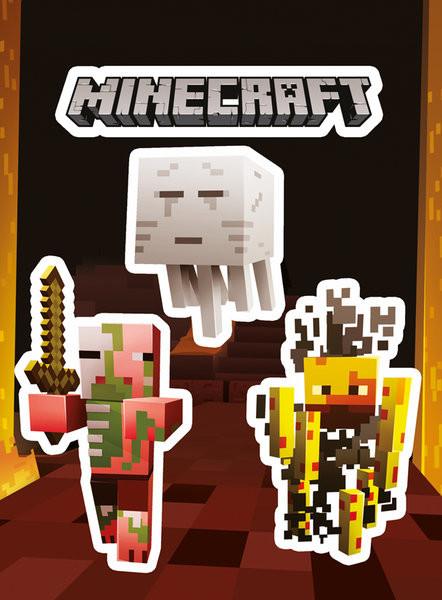 Samolepka Minecraft - Monsters
