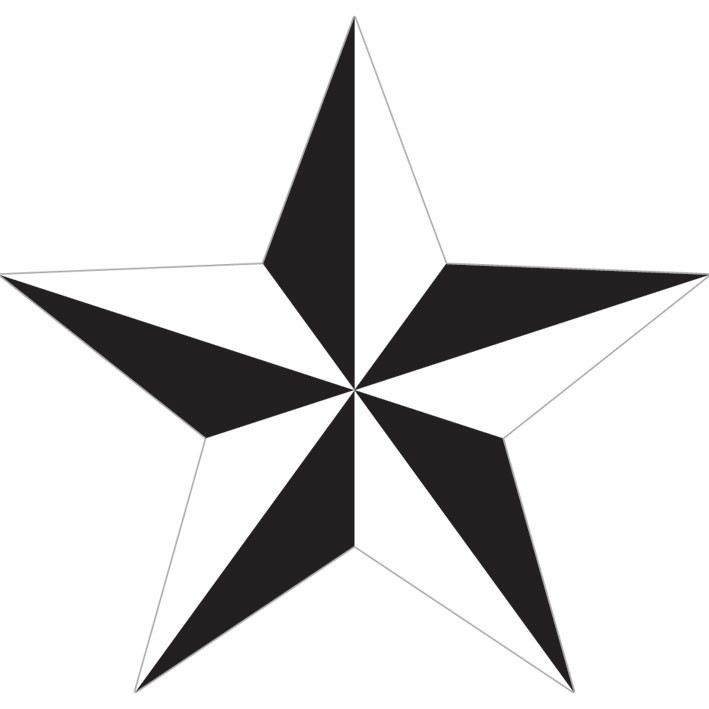 Samolepka NAUTICAL STAR - white