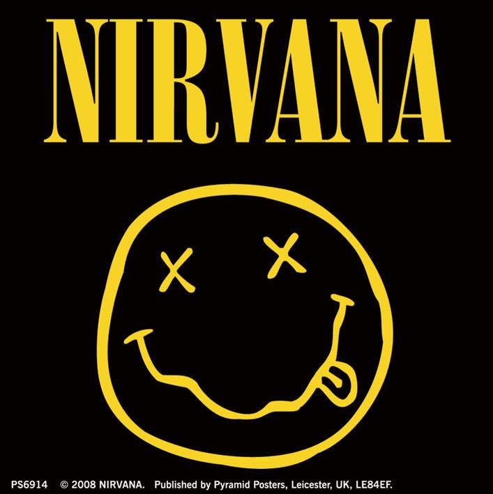 Samolepka NIRVANA - smiley logo