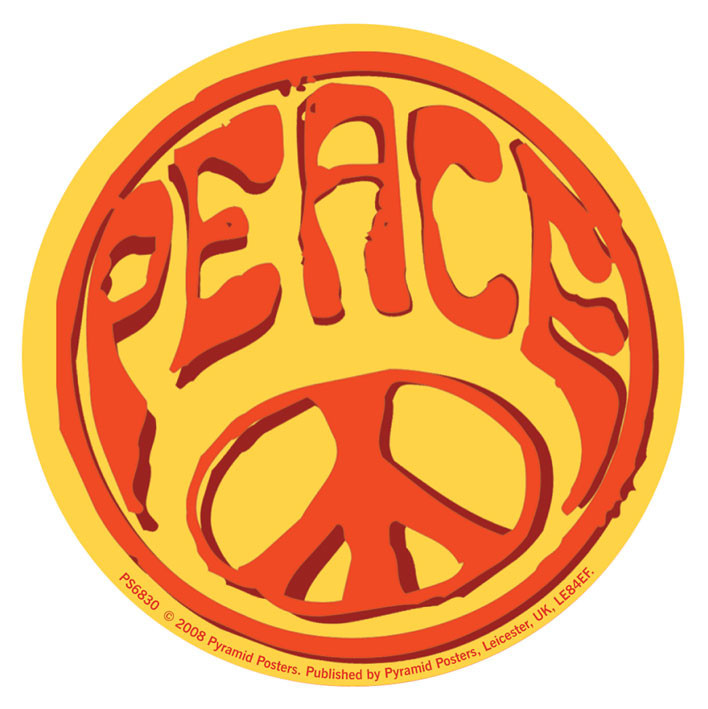 Samolepka PEACE