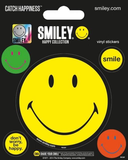 Samolepka  Smiley - Happy Collection