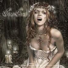 Samolepka VICTORIA FRANCES - vampire girl