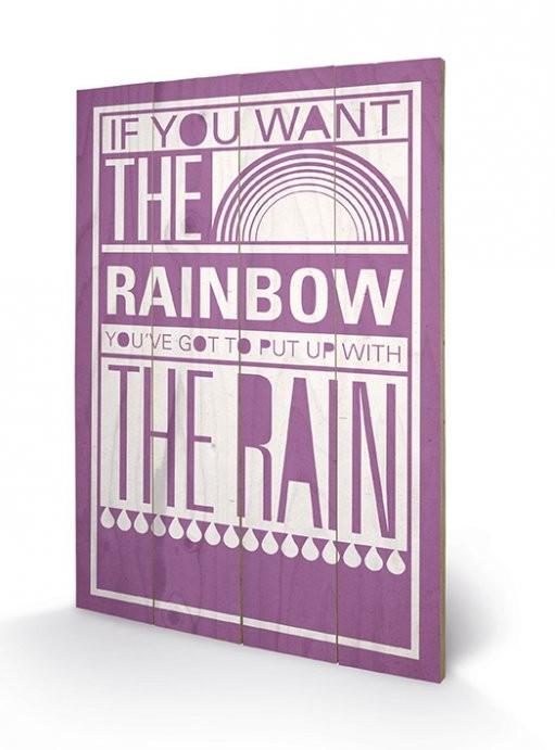 Bild auf Holz Sarah Winter - Rainbow