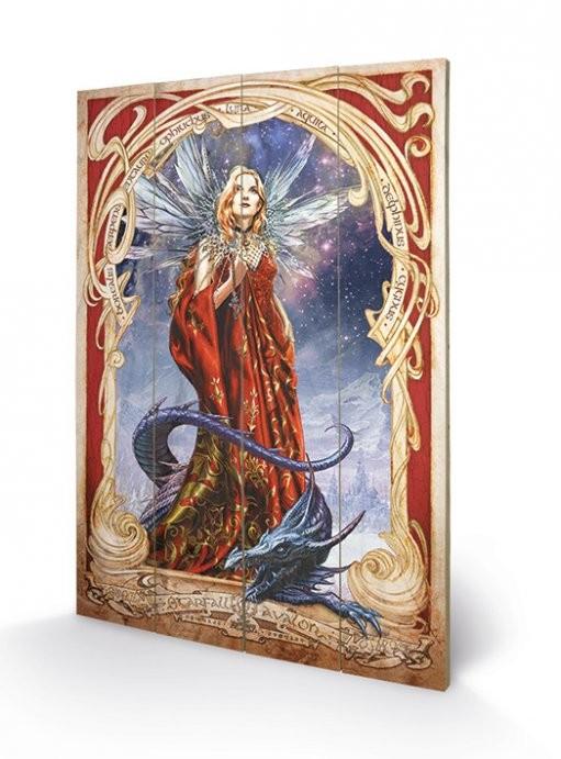 ALCHEMY - starfall on avalon Schilderij op hout