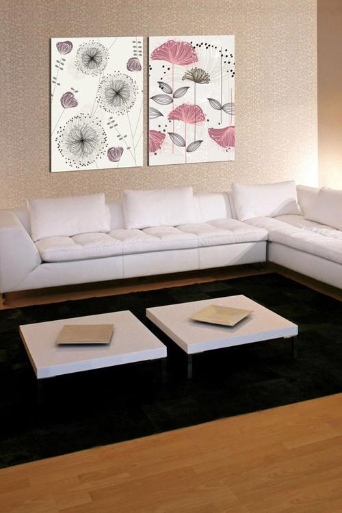 Art - Sketch of Flowers Schilderij