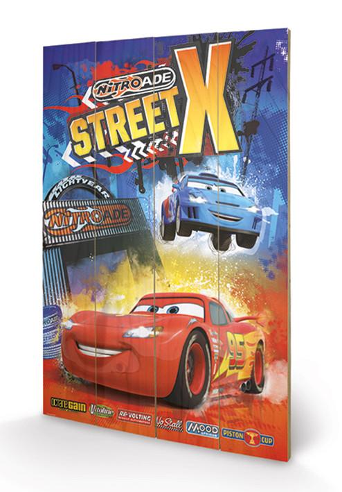 Cars - Street X Schilderij op hout