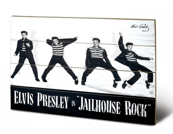 Elvis - Jailhouse Rock Schilderij op hout