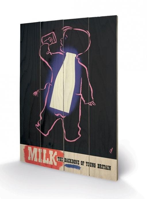 IWM - milk Schilderij op hout