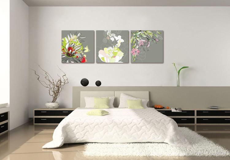 Modern Design - Colorful Blossoms Schilderij