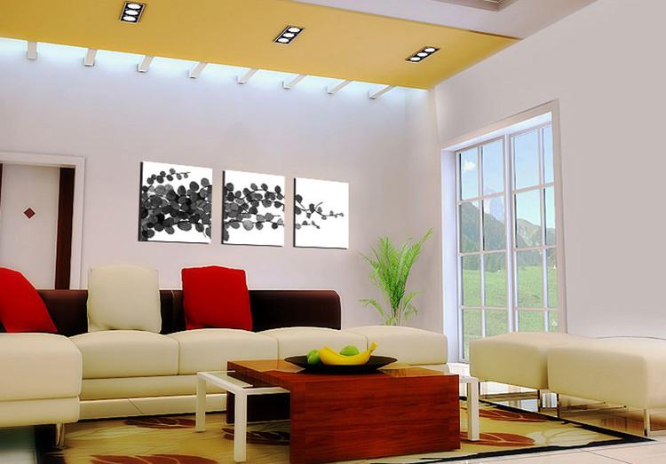 Modern design young branches zwart wit schilderij bestel nu