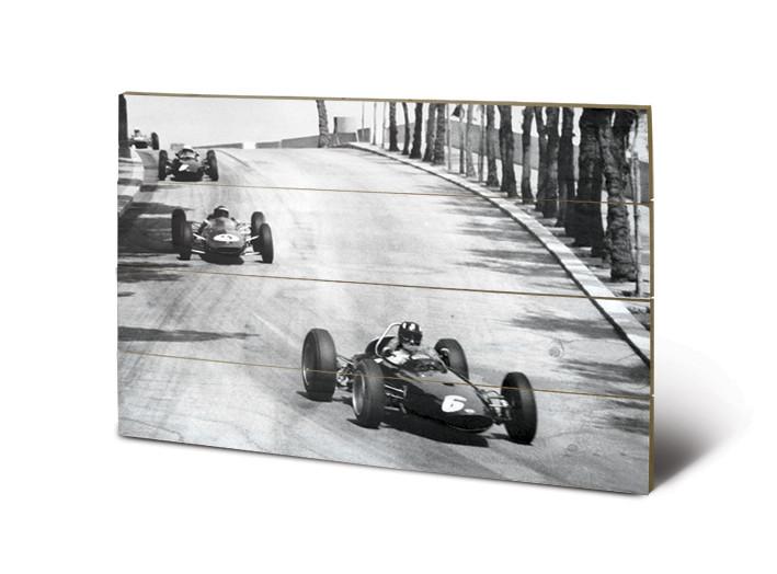 Monaco - New Promenades Schilderij op hout