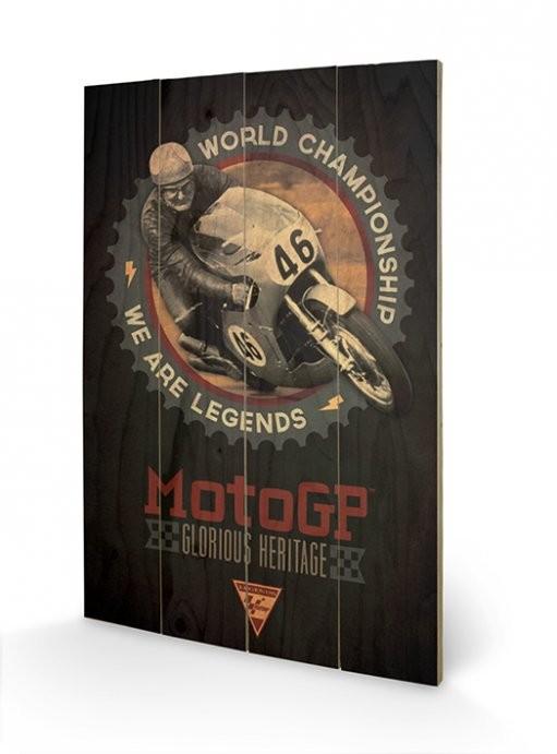 MOTO GP - legends Schilderij op hout