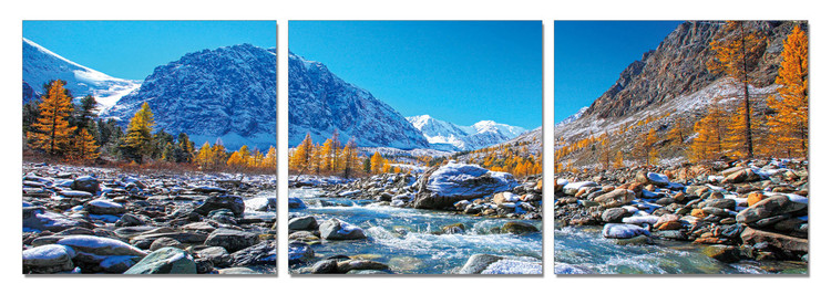 Mountains - Mountain Stream Schilderij