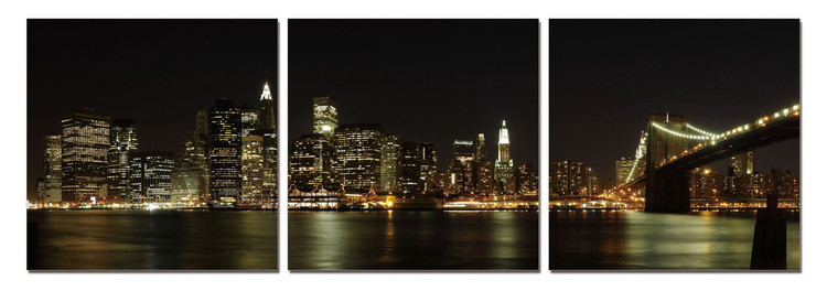 New York - Manhattan Skyline Schilderij