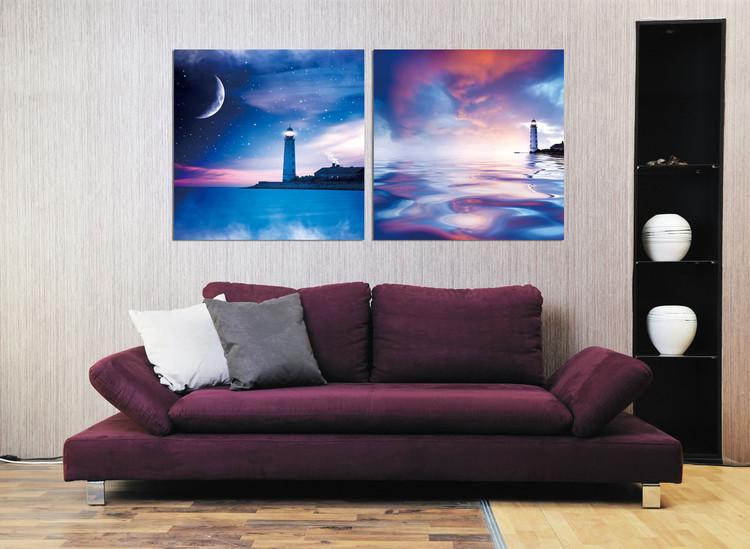 Night lighthouse Schilderij